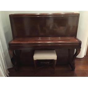 Piano M. Schwartzmann Vertical Teclado Em Marfim
