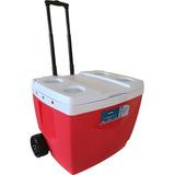 Caixa Térmica C/ Rodas 42 Litros Vermelha Mor