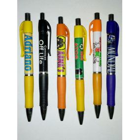 Kit 100 Canetas Personalizada Com Logo Marca Da Sua Empresa