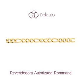 Pulseira Masculina Folheada A Ouro Rommanel 3x1 19 Cm 550050