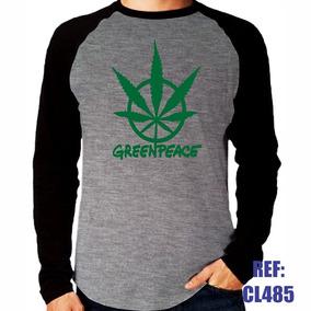 Camisa Raglan Manga Longa Greenpeace Sustentabilidade Mescla 601d4d43c346b