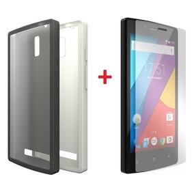 Kit Capa Smartphone Celular 5 Navcity + Película De Plástico