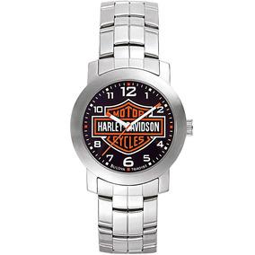 Reloj Harley Davidson By Bulova Acero Original 76a019