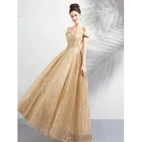 Vestido Noche Largo E-180420001 Envio Gratis Corte Princess