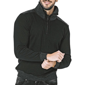 Suéter Mil S114 Color Negro Gris Caballero Oi