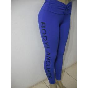 Calça Leg Legguin Body Language Azul Veste P M Bom Estado