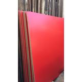 Remate Melamine Rojo Planchas 250 X 180