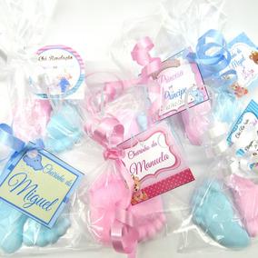80 Pezinhos Sabonete (40 Pares) Azul Rosa Lembrancinha Bebê
