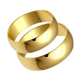 1ce14649e86 Alianças De Casamento Lisa Ouro 18 Kilates! - Alianças no Mercado ...