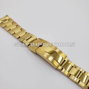 4e33135d3fe Pulseira Rolex 20mm Dourada Banhada - Alta Qualidade