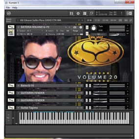 Kit Kontakt Samples Do Silvano Salles Teclado Casio Ctk-wk