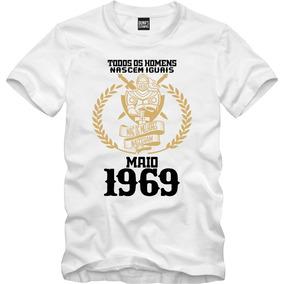 Camiseta Nascidos Em 1969 - Camisetas Manga Curta no Mercado Livre ... 24ee72d44ae4c