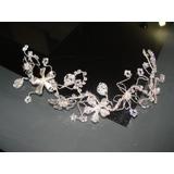 Tiara Tocado De Novia Cristales De Swarovski Hilo Alambre