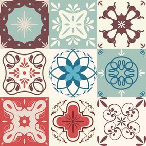 c40571464 12 Adesivos Imitando Azulejo Hidráulico Português 10 X 10 Cm - Casa ...