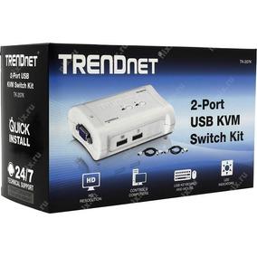 Chaveador Kvm Trendnet Tk-207k - 2 Portas Usb - Teclado + Vi