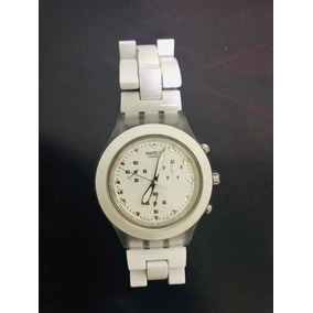 b949d1cb778 Relógio Swatch Full Blooded Branco Svck4045ag Novo + Frete ...