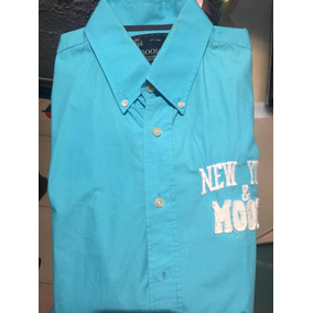 f0c8155a21 Camisas Azul Turquesa Manga Larga - Camisas de Hombre en Mercado ...