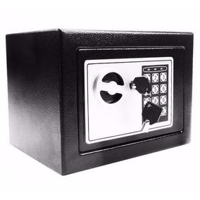 Cofre Eletrônico Digital Teclado Com Senha + 2 Chaves Aço