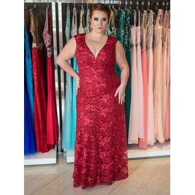 bf7eb17aab484 Vestido Mae Noiva Plus Size - Vestidos Longos Femininas no Mercado ...