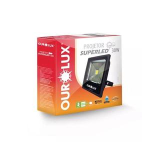 3 Refletores 30w + 1 Sensor De Presença Externo Qa26m