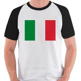 Camiseta Bandeira Italia - Camisetas no Mercado Livre Brasil 04853e6ffa720