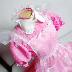 Roupa Maid Café Pink Sweet Com Frete Gratis