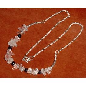 daa92b9c8f4d Collar Plata 925 Gemas Piedras Aventurina Y Cristal De Roca
