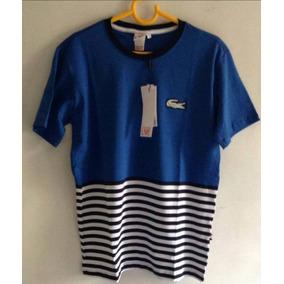 Camiseta Lacoste Masculina Listrada De - Camisetas Manga Curta para ... e0ca8146d4