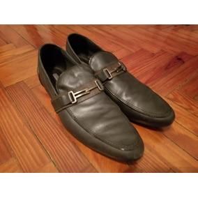 Zapatos Zara Azules Grisáceo En Buen Estado Talle 42