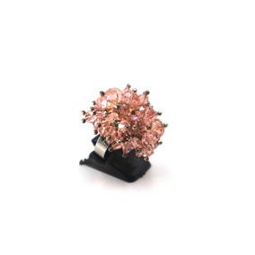 Anillo De Cristales Coral (ajustable)