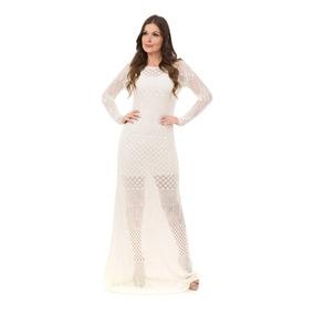 b57943219 Vestido Branco Renda Longo 100 00 - Vestidos De Festa Femininas no ...