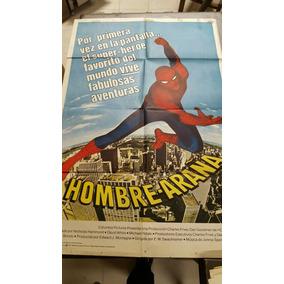 Antiguo Afiche De Cine El Hombre Araña