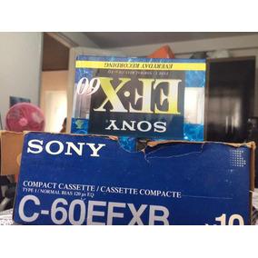 Caixa Fita Cassete Sony 10 Unidades 200 Reais