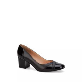 Zapatillas Negras Tacon Ancho Y Bajo Mujer Andrea - Zapatos en ... 0e7513f6f945