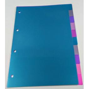 Divisórias Color Para Fichário Universitário C/ 10 Divis