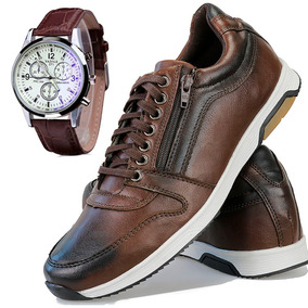 1cc4510f5 Kit Sapatenis Masculino Easywear Esporte Fino Jogg + Relogio