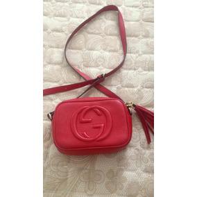 Bolsa Gucci Soho Vermelha Original - Bolsas Gucci de Couro Femininas ... dc9d251a00