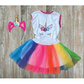 Disfraz Unicornio Nena Con Vincha