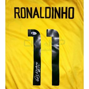 Jersey Firmado Ronaldinho Brasil Korea-japon 2002 Autografo d84ea2a2691a0