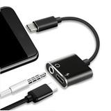 Adaptador De Audio Y Carga Usb C A 3.5 Mm Y Usb C