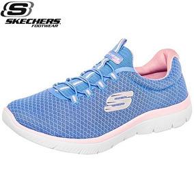 Tenis Skechers Summits Running Mujer Azul 23-26 W81466