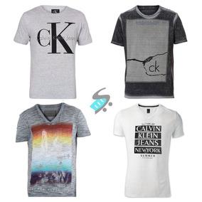 Kit 10 Camiseta Camisa Masculina Marca Estampada Imperdivel! R  120 d27276211842f