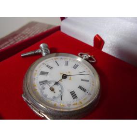 a18dad489fd Relogio Bolso Antigo Prata - Relógios no Mercado Livre Brasil