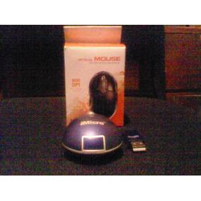 Mouse Inalámbrico Óptico Azul Micro 3d Con Receptor Usb