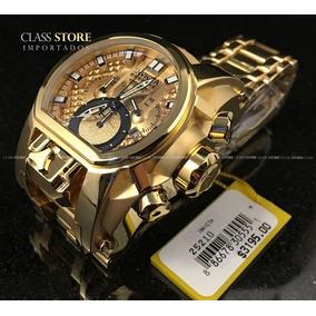 6f7708e1fe5 Relogio Invicta Zeus Magnum 25209 Original Banhado Ouro 18k