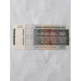 Nota Antiga De 500 Cruzeiros Raça 1980(fe)