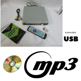 Mp3 Dvd Cd Musica Karaokê Usb 5 Canais Filmes Divx Svcd