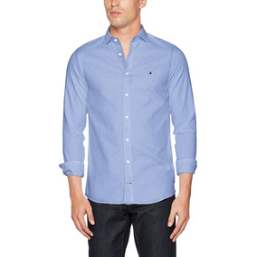 26e18e72b71 Tommy Hilfiger Camisa Azul Slim Fit Hombre