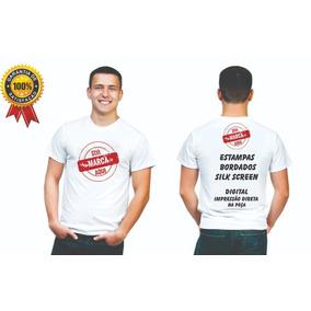 Camiseta Personalizada Empresa Loja Sua Logo - 5 Unidades