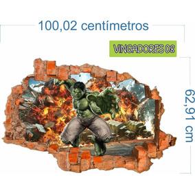 Adesivo Recortado Parede Quebrada Vingadores Mod. 08